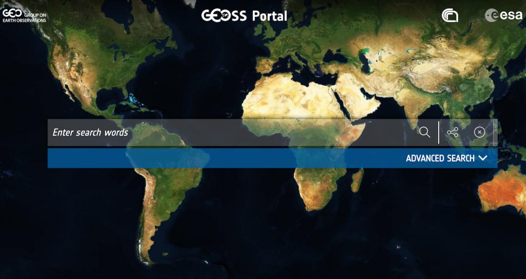 GEOSS portal homepage.